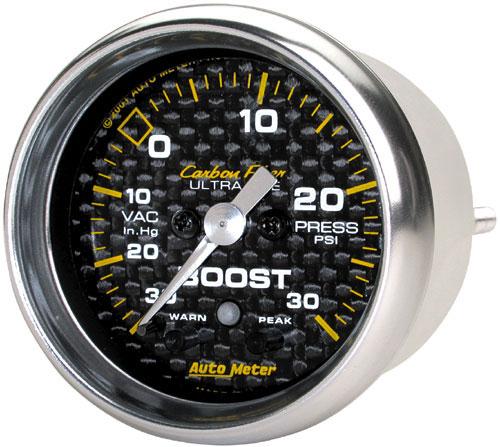 Auto Meter Carbon Fiber Series Gauges