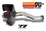 K&N 77 Series Metal Tube Air Intake System