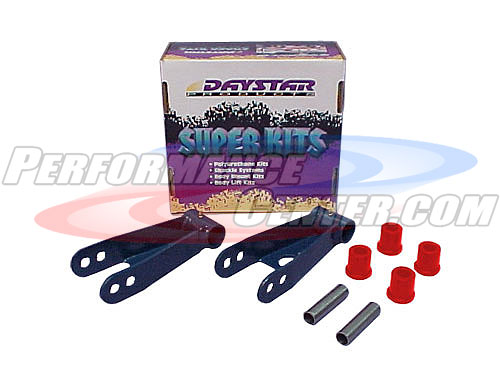 Daystar Non-Greaseable Leaf Spring Super Shackles