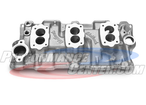 Edelbrock C-357-B Three Deuce Manifold For Small-Block Chevy Engines