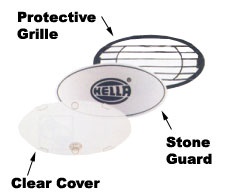 Hella Protective Grille For FF Series 100 Lamps