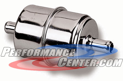 Holley Chrome In-Line Fuel Filter