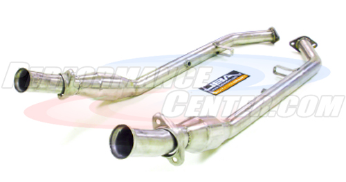 JBA 2809SYC 2.5 Mid-Pipe With Dual Catalytic Converters for Shorty Headers