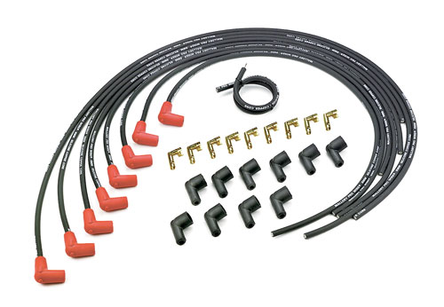 Mallory Pro Wire 8mm Black Spark Plug Wire Set