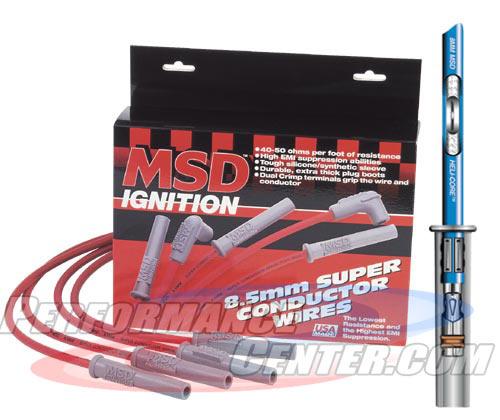 MSD Heli-Core Spark Plug Spark Plug Wire Set