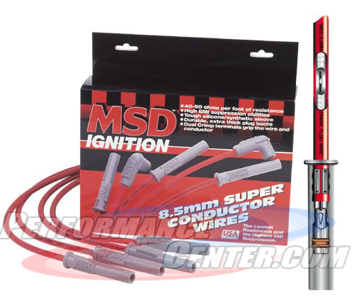 MSD 8.5MM Super Conductor Spark Plug Wire Set